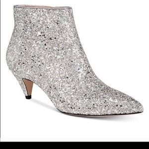 NWT KATE SPADE GLITTER ANKLE BOOTS!